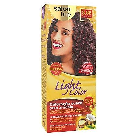 SALON LINE Light Color Tonalizante 3.66 Bordeaux Profundo