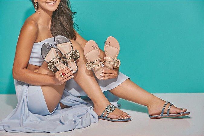 Sandália Rasteira De Moda Feminina Velleza 110