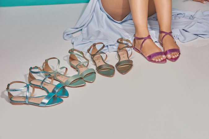 Sandália Rasteira De Moda Feminina Velleza 123