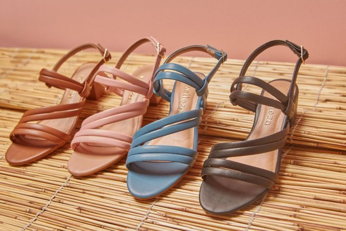 Sandália Salto Baixo Feminina Velleza S-255