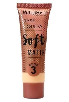 Base Líquida Soft Matte - Ruby Rose(Tons bege)