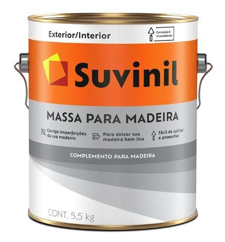 Suvinil Massa para Madeira 3,6L/5,5KG