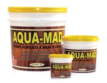 Machado Aqua-Mad Verniz Base Água Incolor