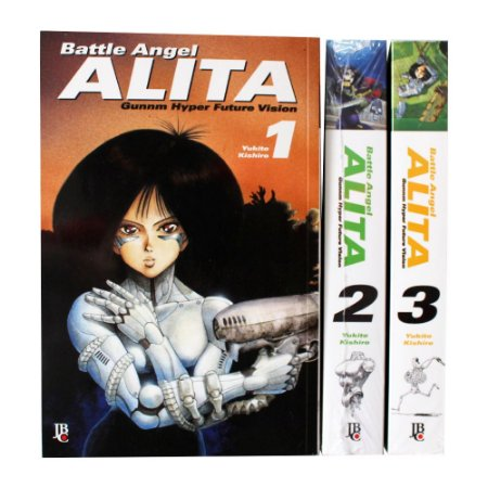 Battle Angel Alita Vol. 1 ao 3 - Pré-venda