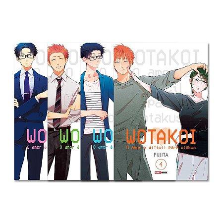 Wotakoi: O amor é difícil para os otakus Vol. 1 ao 4 - Pré-venda