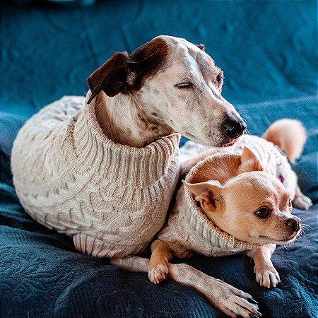 Tricot para Cachorros e Gatos Vanilla Cream
