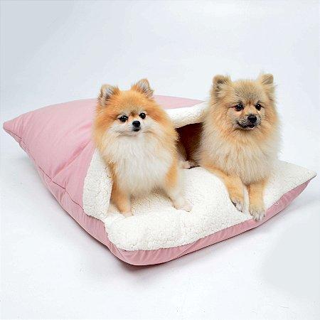 Almofadão para Cachorros Sarja Premium Rose
