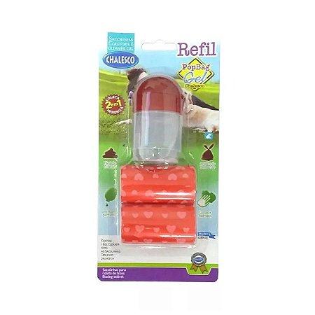 Refil de Saquinhos para Cata Caca com Gel Pop Bag Vermelho