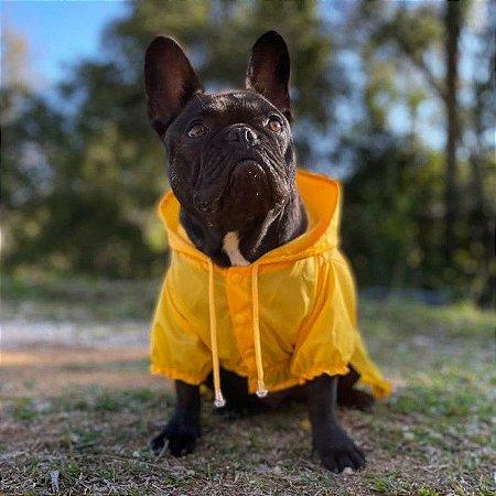 Capa de Chuva para Cachorros Amarelo