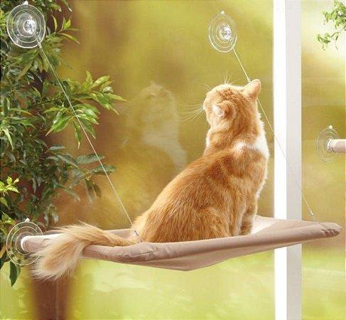 Cama Suspensa de Janela para Gatos Caramelo