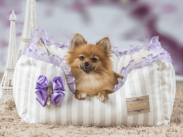 Cama Retangular para Cachorros Bailarina Lilás