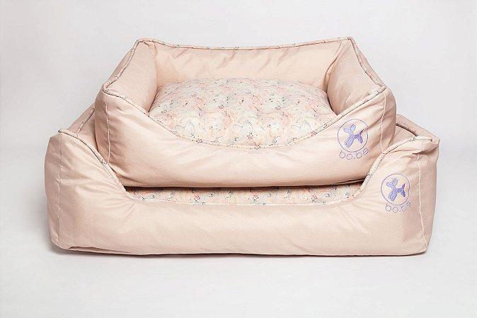 Cama Retangular para Cachorros Marble Pink