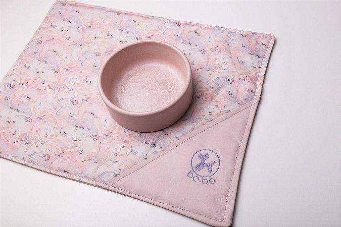 Jogo Americano Marble Pink