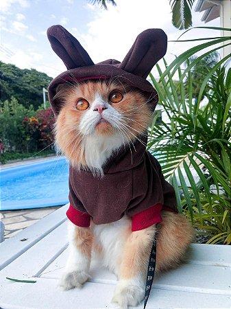 Moletom para Cachorros e Gatos | Bichinho Virtual Marrom
