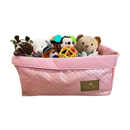 Cesto para Brinquedos | Strass Rosa