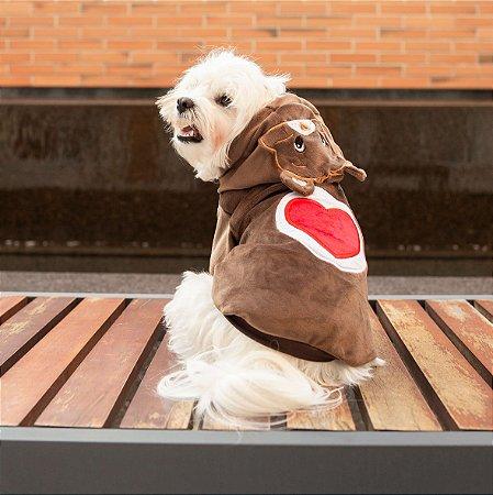 Moletom para Cachorros | Ursinhos Carinhosos Marrom Meu Coração