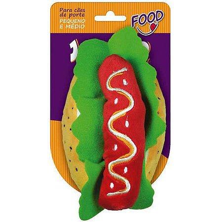Brinquedo para Cachorros | Pelúcia Food Hot Dog