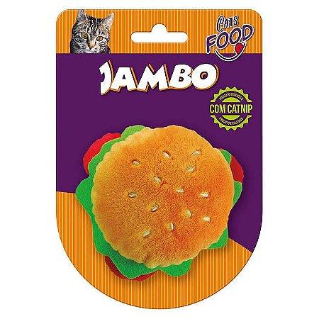 Pelúcia Food Cat Hambúrguer com Catnip
