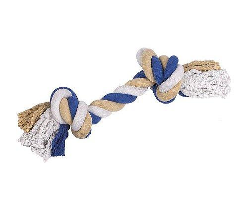 Brinquedo para Cachorros Corda Dental Bone Azul