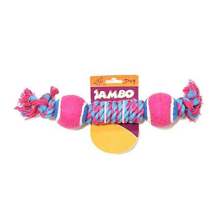 Brinquedo para Cachorros | Corda Twisted com Duas Bolas de Tênis