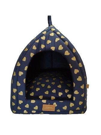 Cabana para Cachorros e Gatos   Love Azul