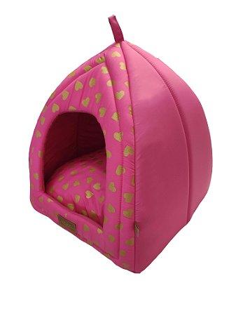 Cabana para Cachorros e Gatos Love Rosa