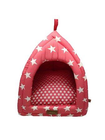 Cabana para Cachorros e Gatos Star Rosa