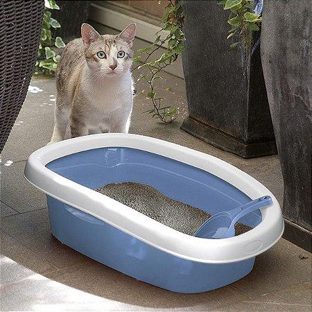 Bandeja Sanitária para Gatos | Azul
