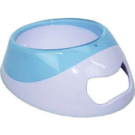 Comedouro para Cachorros Dual Collor Plus Azul