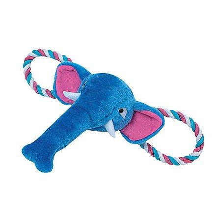 Brinquedo para Cachorros Elefante Azul com Corda