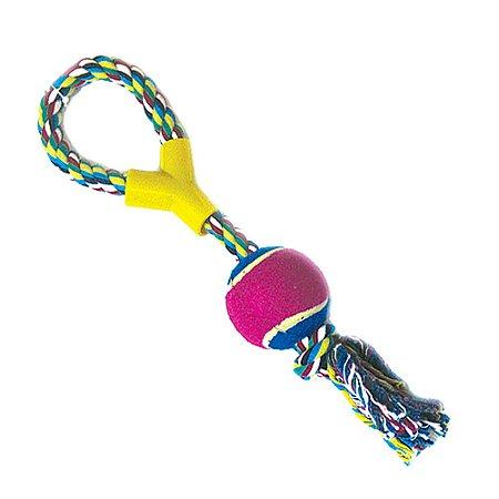 Brinquedo para Cachorros Cabo de Guerra com Bola de Tênis
