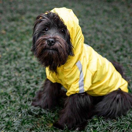 Capa de Chuva para Cachorros | Amarela