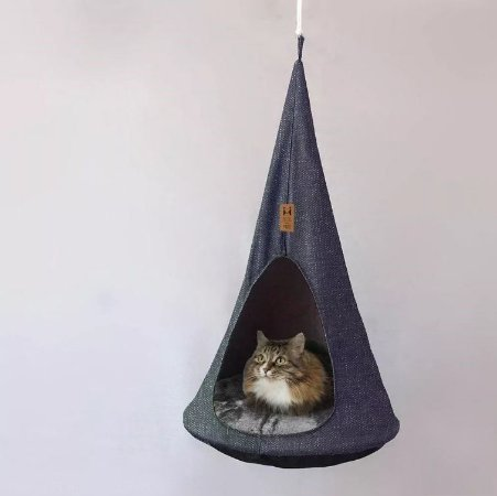 Cama Toca Suspensa para Gatos | Cat Cocoon Jeans