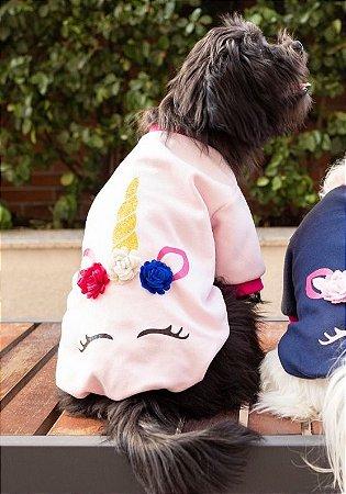 Blusa para Cachorros e Gatos | Unicórnio Rosa