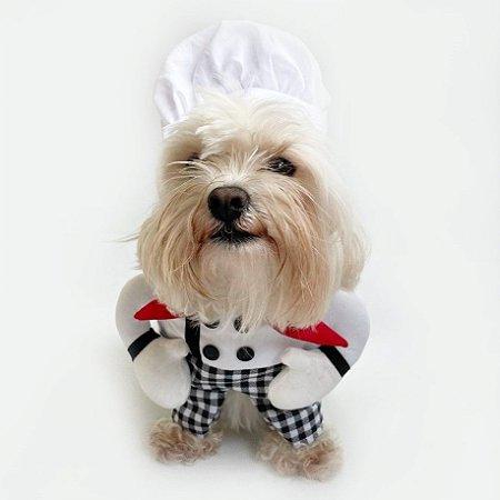 Fantasia para Cachorros Chefe de Cozinha