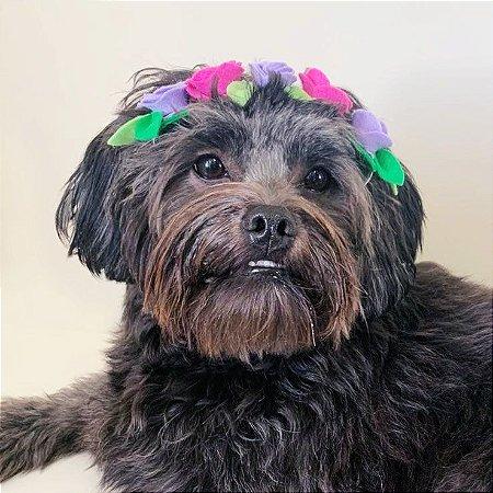 Fantasia para Cachorros e Gatos Tiara Flores