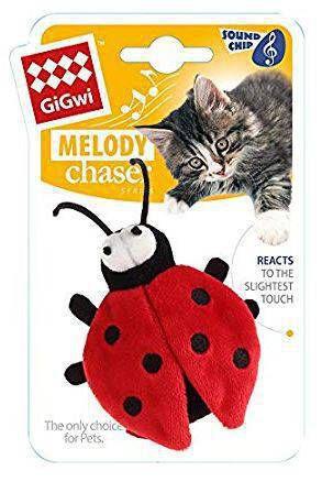 Brinquedo para Gatos Melody Chaser Joaninha com Som