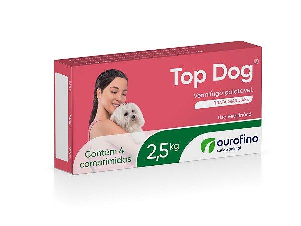 Vermífugo Top Dog Ourofino | Cães até 2,5kg