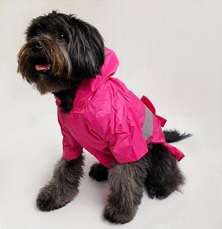 Capa de Chuva para Cachorros Laço Pink