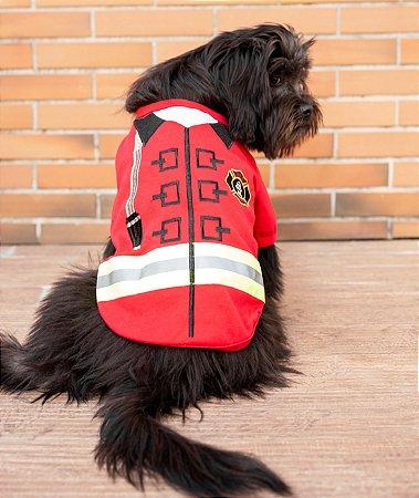 Camiseta para Cachorros e Gatos | Bombeiro