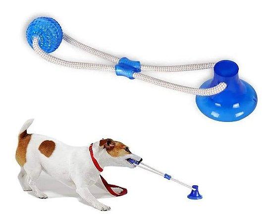 Brinquedo para Cachorros Cabo de Guerra com Ventosa Azul
