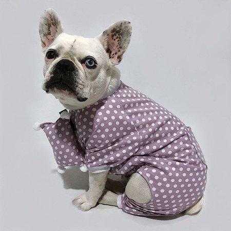 Pijama para Cachorros Lilás Poá