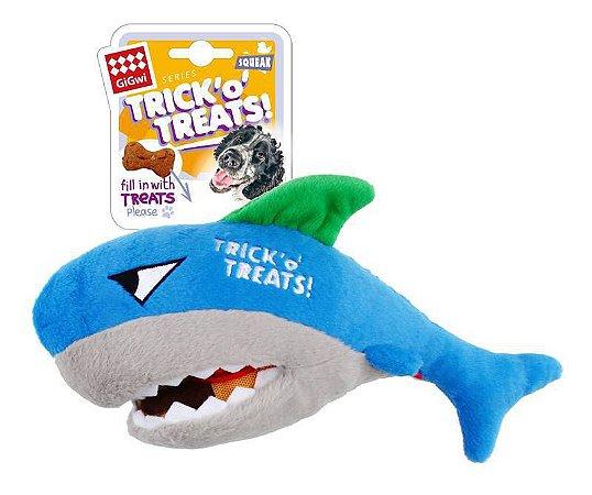 Brinquedo Interativo para Cachorros | Pelúcia Tubarão