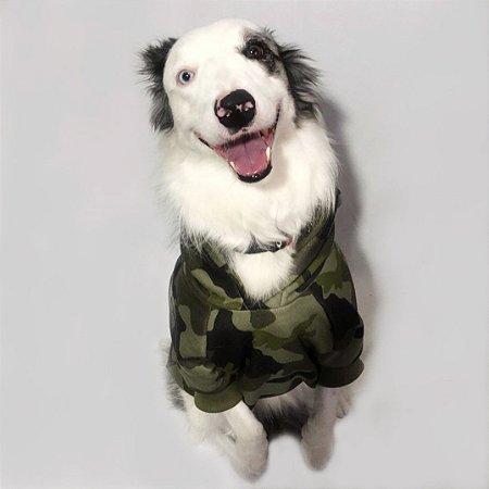 Moletom para Cachorros | Camuflado Verde