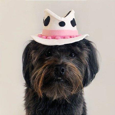 Fantasia para Cachorros e Gatos | Chapéu Cowgirl Vaquinha | Festa Junina