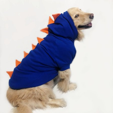 Moletom para Cachorros | Dinossauro Azul com Laranja