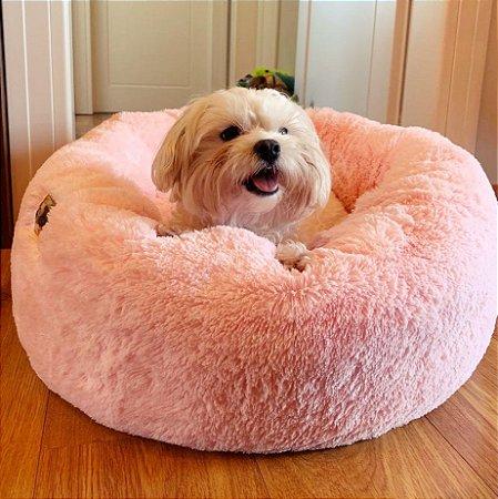 Cama de Pelúcia para Pets Nuvem Super Macia Rosa