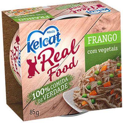 Alimento Úmido para Gatos Real Food Kelcat Frango com Vegetais