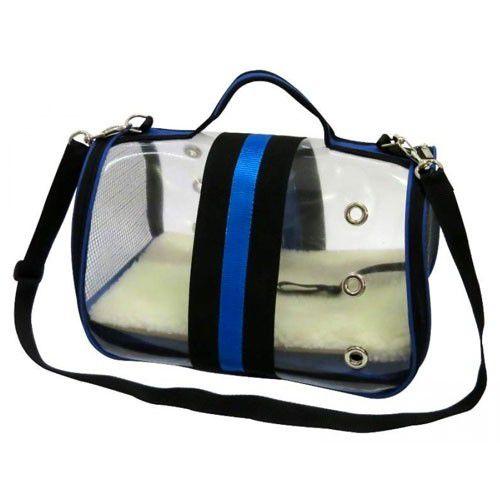 Bolsa de Passeio para Cachorros e Gatos Glass Azul