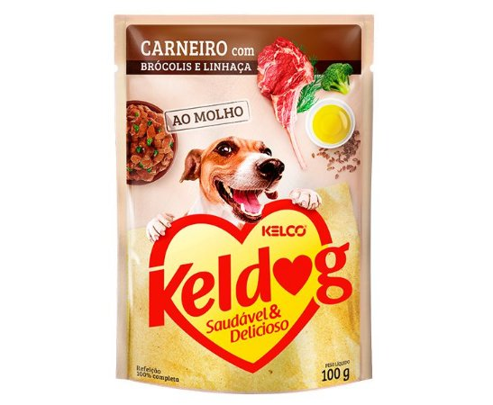 Sachê Úmido para Cachorros | Keldog Carneiro com Brócolis e Linhaça